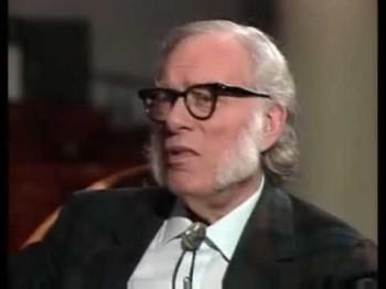 Isaac Asimov lors d'une interview de 1988