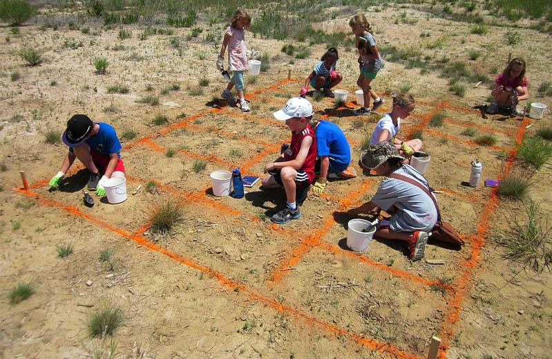 Projet de fouilles archéologique pour des élèves